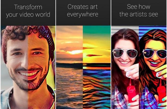 Prisma como aplicación para convertir video en arte en Android