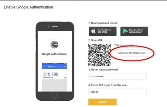 Cómo habilitar la autenticación de Google para las retiradas