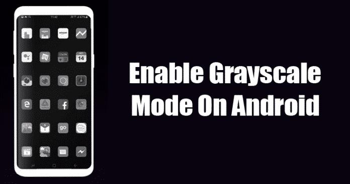 Cómo activar el modo de escala de grises en Android