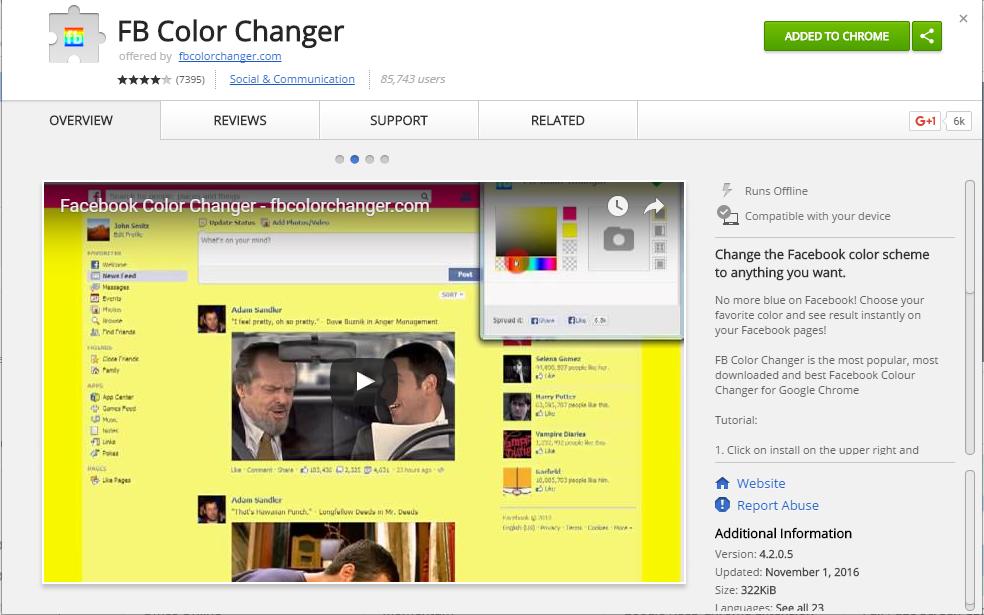 Cómo cambiar el tema predeterminado de Facebook al color que quieras