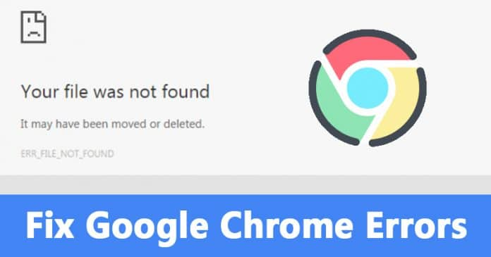 Cómo arreglar el error ERR_FILE_NOT_FOUND de Chrome