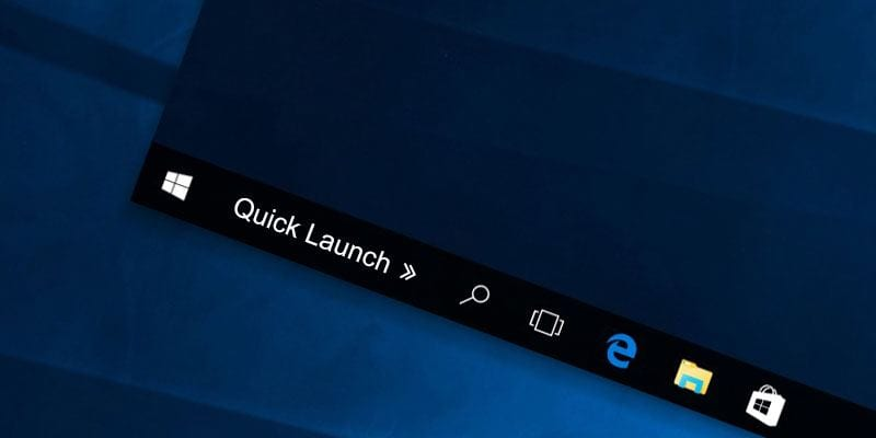 Cómo obtener la barra de inicio rápido de XP en Windows 10