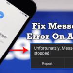 Cómo solucionarlo Desafortunadamente Messenger ha detenido el error de Android