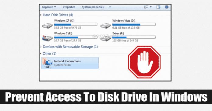 Cómo evitar el acceso a las unidades de mi ordenador en Windows