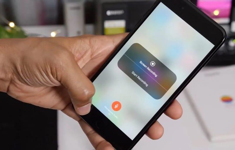 Cómo grabar la pantalla con audio en el iOS 11