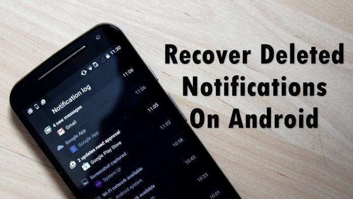 Cómo recuperar las notificaciones borradas de su Android