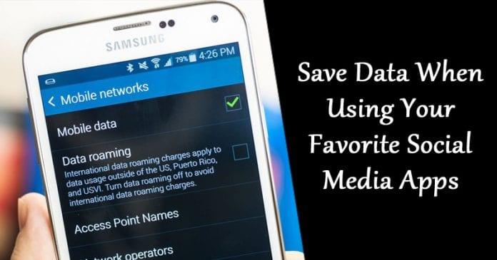 Cómo guardar datos al usar tus aplicaciones favoritas de medios sociales