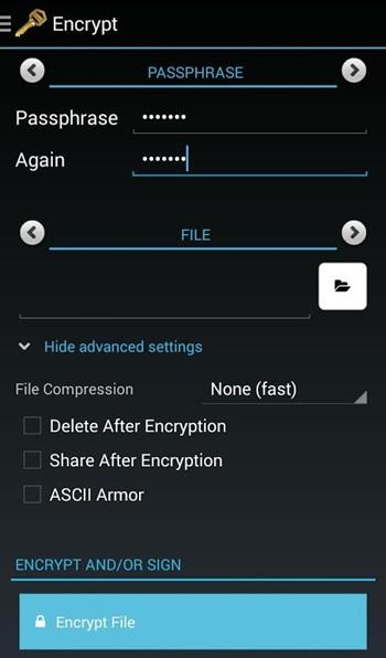 Cómo enviar correo electrónico encriptado en Android