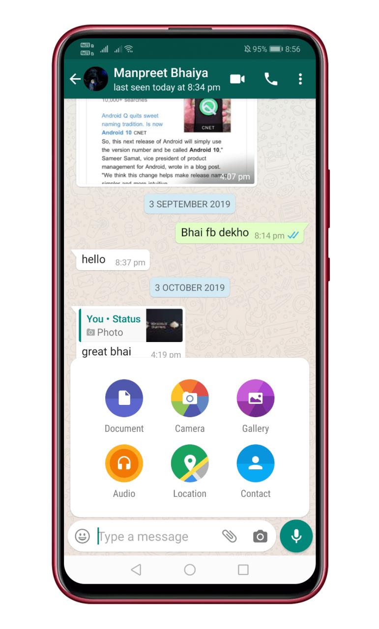 Cómo compartir casi cualquier archivo con WhatsApp