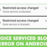 Cómo arreglar el error El servicio de voz cambiado de acceso restringido está bloqueado.