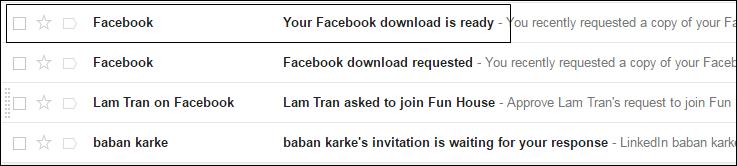 Cómo recuperar los mensajes de Facebook borrados