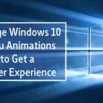Cómo cambiar las animaciones del menú de Windows para obtener una experiencia más rápida