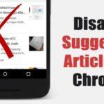Cómo desactivar los artículos sugeridos en Chrome para Android