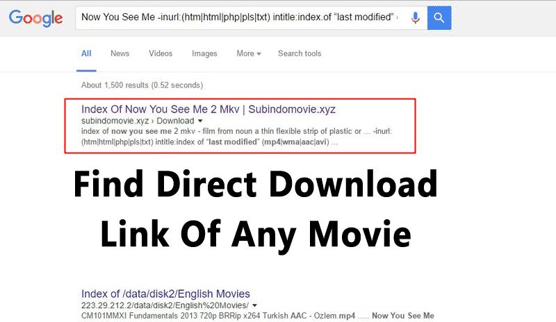 Cómo encontrar el enlace de descarga directa de cualquier película