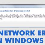 """Cómo solucionar el error """"Windows ha detectado un conflicto de direcciones IP""""."""