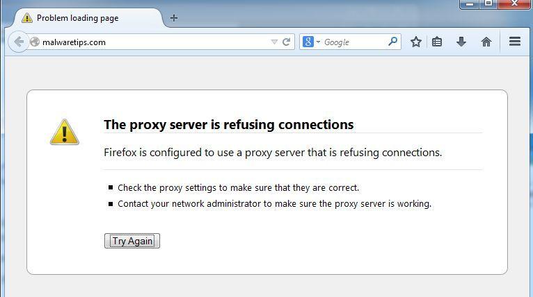 Cómo arreglar el mensaje de error del servidor proxy que rechaza las conexiones