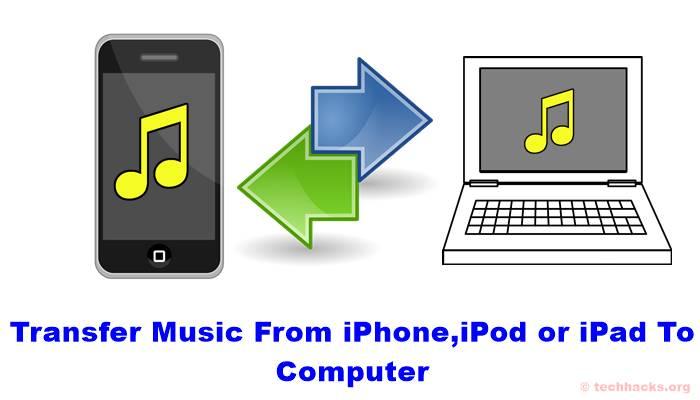 Cómo transferir música del iPhone, iPod o iPad al PC