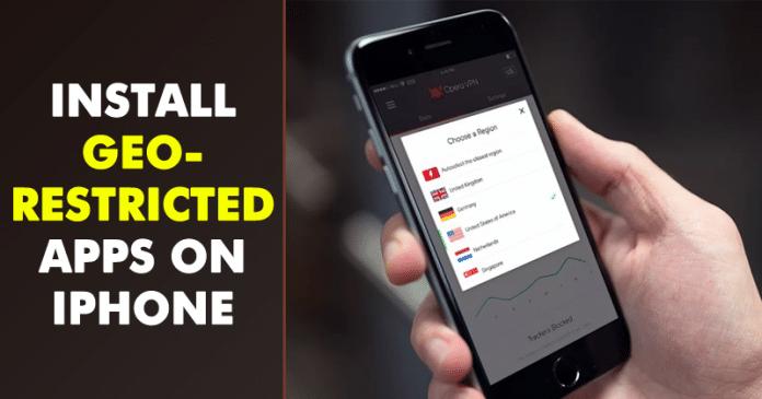 Cómo instalar aplicaciones con restricciones geográficas en el iPhone