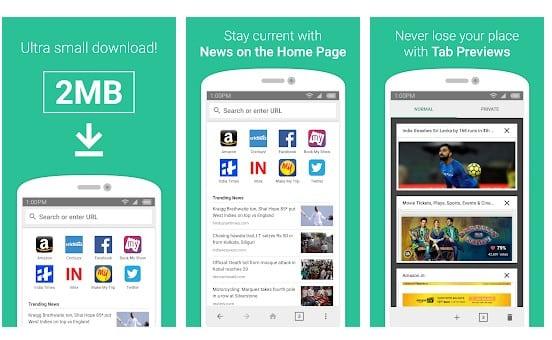 Los 10 mejores navegadores ligeros para su dispositivo Android