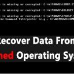Cómo recuperar los datos de un sistema operativo que se ha estrellado