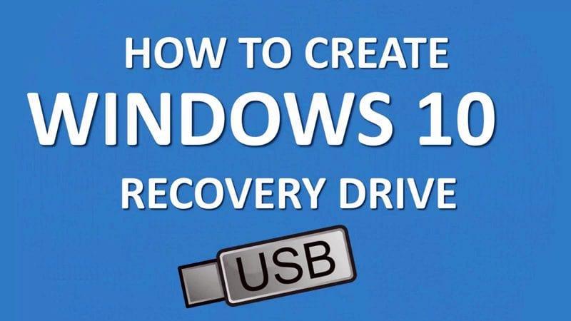 Cómo crear una unidad o disco de recuperación de Windows 10
