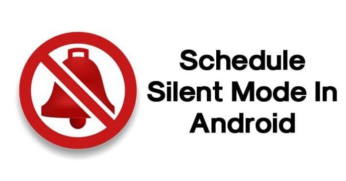 Cómo programar el modo silencioso en Android