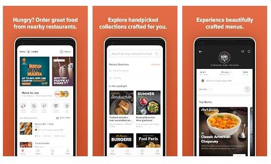 Las 10 mejores aplicaciones de entrega de alimentos para Android