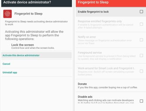 Cómo apagar la pantalla de Android con el escáner de huellas dactilares