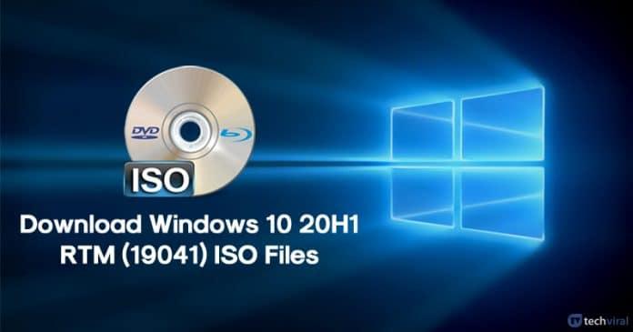 Cómo descargar los archivos ISO de Windows 10 20H1 RTM (19041)