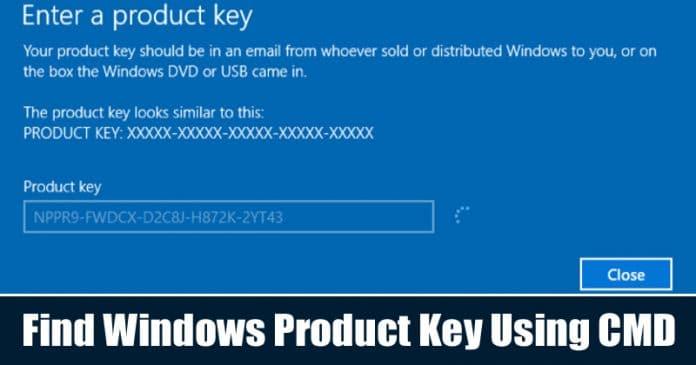 Cómo encontrar la clave de producto de Windows 10 mediante el símbolo del sistema