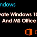 Cómo activar Windows 10, 8, 7 y MS Office sin la clave de producto