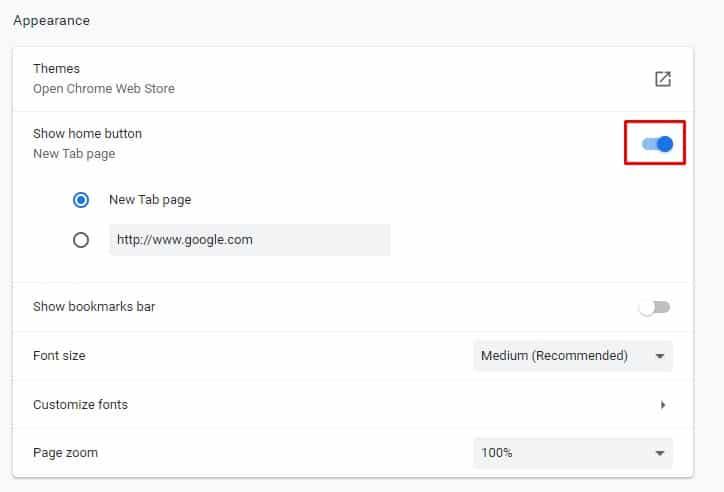 Cómo mostrar el botón de inicio en Google Chrome