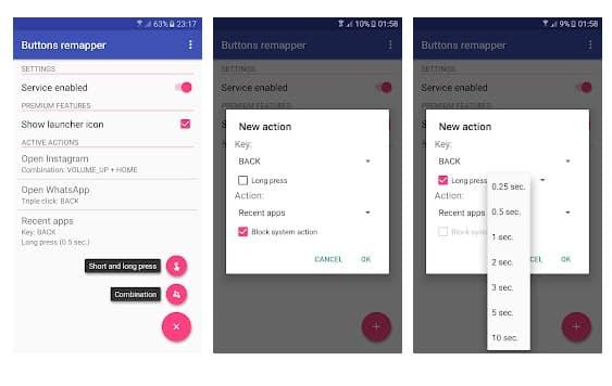 Las 5 mejores aplicaciones para recuperar la energía o cualquier botón de hardware en Android