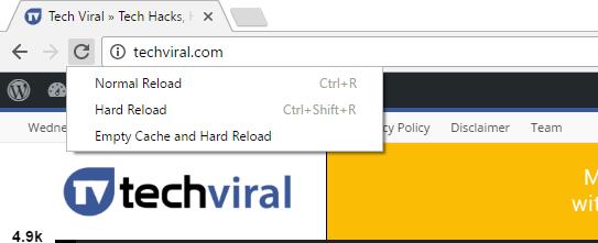 ¿Sabías que Google Chrome tenía un menú oculto junto al botón de recarga?