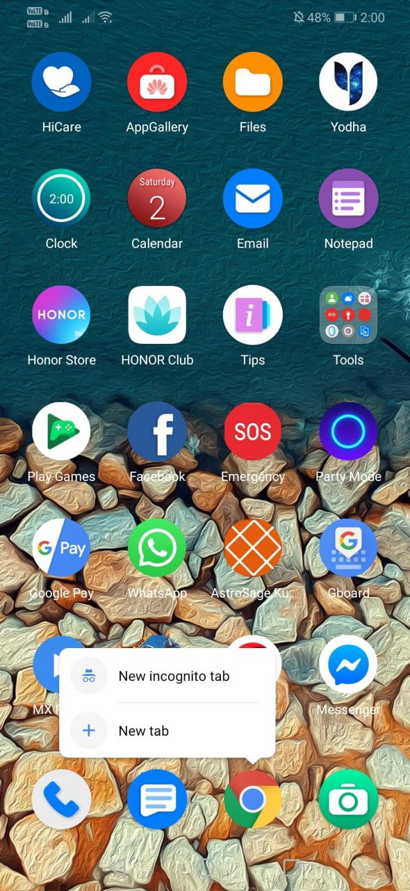 Cómo abrir Chrome en modo de incógnito por defecto en Android