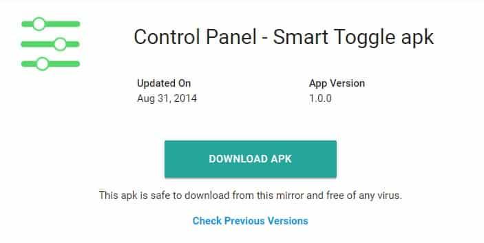Cómo obtener iOS como centro de control en Android
