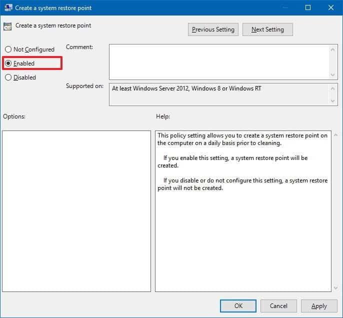 Cómo crear puntos de restauración del sistema diarios en Windows