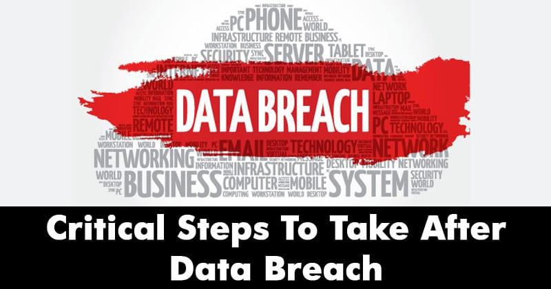 10 pasos críticos a tomar después de un ataque por violación de datos