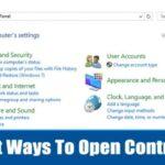 6 maneras diferentes de abrir el panel de control en Windows 10