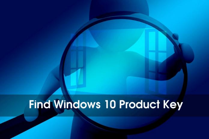 3 maneras de encontrar la clave de producto de Windows 10