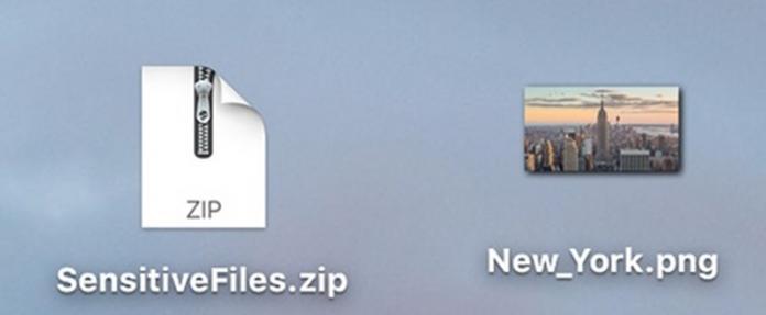 Cómo ocultar el archivo ZIP en un archivo de imagen en un MAC