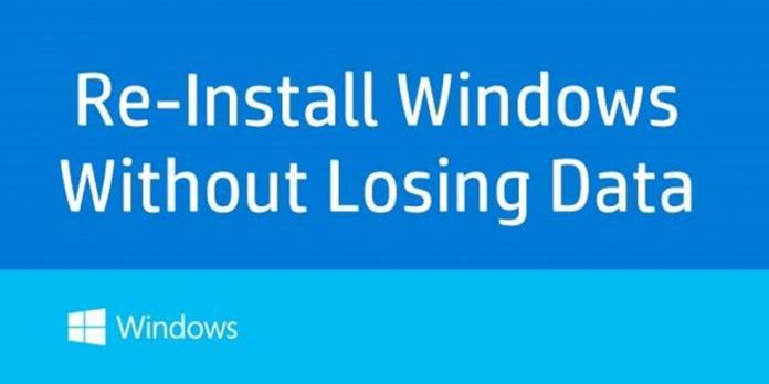 Cómo reinstalar Windows sin perder datos