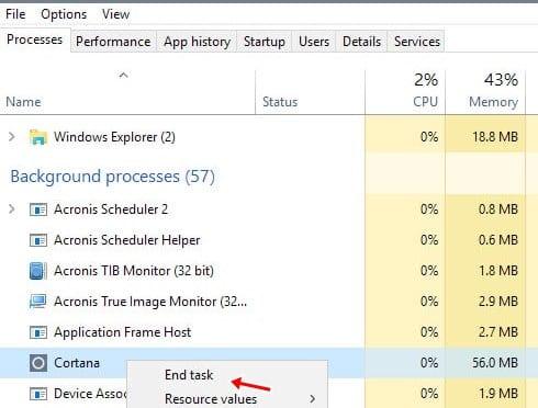Cómo arreglar la búsqueda de Windows 10 no funciona
