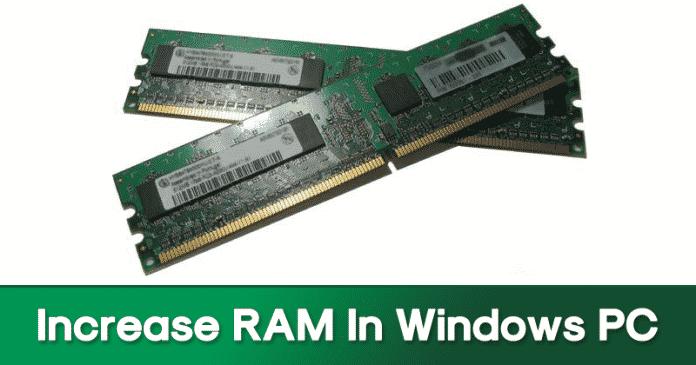 Cómo aumentar la RAM en el PC con Windows usando el espacio del disco duro