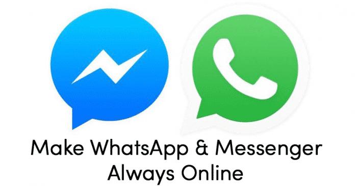 Cómo mantenerse en línea todo el tiempo en WhatsApp y FB Messenger