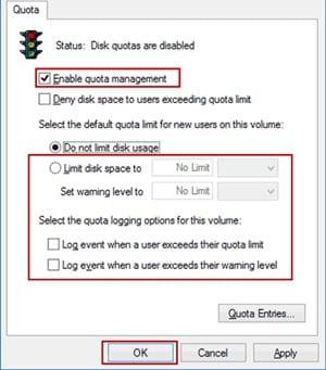 Cómo evitar que un usuario utilice todo el espacio del disco duro de Windows