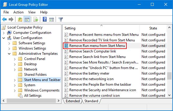Cómo deshabilitar el cuadro de diálogo Ejecutar en Windows
