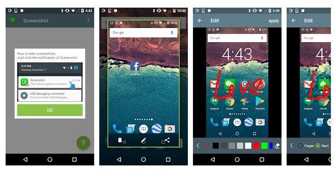 Las 15 mejores aplicaciones de captura de pantalla sin raíz para Android 2020
