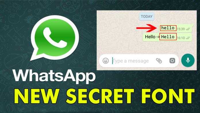 Así es como puedes usar la fuente secreta en el chat de WhatsApp