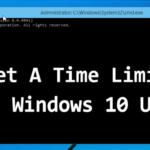 Cómo establecer fácilmente un límite de tiempo para el usuario de Windows 10